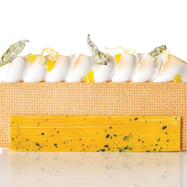 Keks-Gelato Zitrone Basilikum